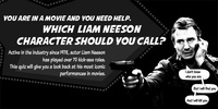 INFOGRAPHIC: Which Liam Neeson Character will Rescue You?