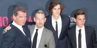 Pierce Brosnan Takes His 3 Handsome Sons to Premiere of 'No Escape'