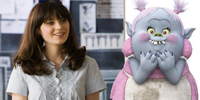 Zooey Deschanel's Uniquely Colorful Cinderella Spin in Trolls
