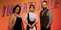 Debby Ryan, Dallas Roberts, and Gloria Diaz in Manila for Netflix's 'Insatiable' 2