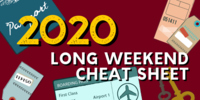 Plan Ahead: 2020 Long Weekends Cheat Sheet