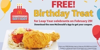 Leap Year Babies, Here's How McDonald's is Treating You On Your Birthday!