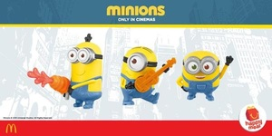 Collect Your Own Minions: McDonald's Happy Meal Gives You One in Every Box, in Stores Today