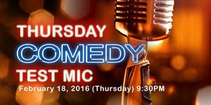 Comedy Cartel presents Thursday Comedy Test Mic