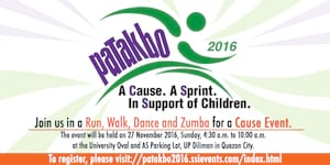 Patakbo 2016. A Cause. A Sprint. In Support of Children