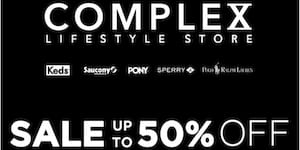 Complex Lifestyle Store End of Season Sale