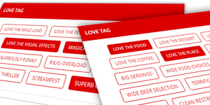 Love Tag: Click Your Movie and Restaurant Picks and Share The Love with Our New Rating Update