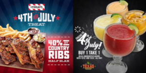 Celebrate 4th of July at TGIFridays, Village Tavern and Texas Roadhouse