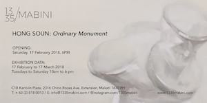 Ordinary Monument, A Solo Show by Soun Hong