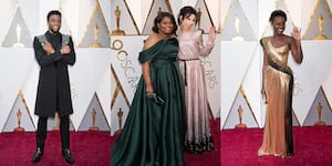 IN PHOTOS: Gal Gadot, Chadwick Boseman, Lupita Nyong'o, and More on the Oscars Red Carpet
