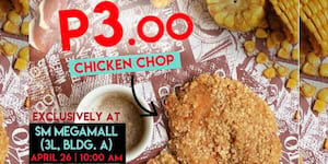 What The Fook?! Get Fat Fook's Chicken Chops For 3 Pesos at The New Megamall Branch on April 26!