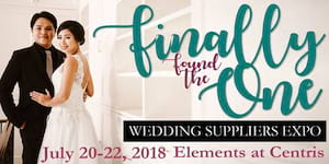 Finally Found The One: Wedding Suppliers Expo
