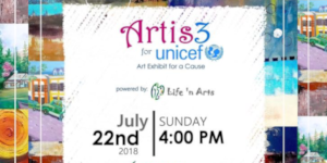 ARTIS3 FOR UNICEF: An art exhibit for a cause