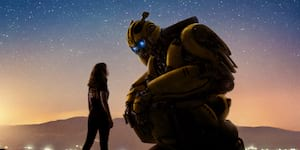 Transformer Meets Girl in New Bumblebee Poster