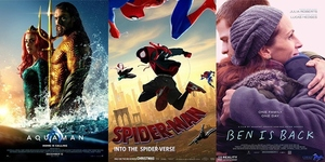 New Movies This Week: Aquaman, Spider-Man: Into the Spider-verse and Ben is Back