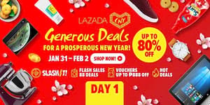Lazada's CNY Generous Deals Up to 80% Off!