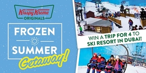 These P99 Frozen Drinks from Krispy Kreme Can Win You A Trip To A Ski Resort in Dubai