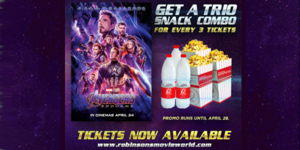 Here's How You Can Get Free Snacks at Robinsons Movieworld When You Watch 'Avengers: Endgame'!
