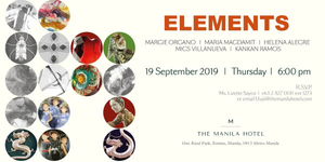 Art Gallery by The Manila Hotel Presents 'Elements'