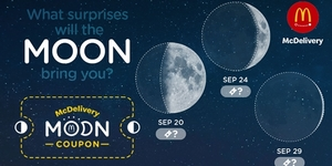 McDelivery's Moon Coupons: Score Discounts Based on Moon's Phases