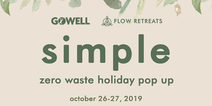 Simple Zero Waste Holiday Pop Up