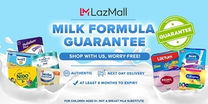Lazada Partners with Five Renowned Milk Companies to Launch the LazMall Milk Guarantee Program