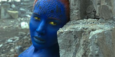 Jennifer Lawrence back in Battle Form as Mystique in X-Men: Apocalypse
