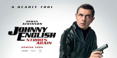 Johnny English Strikes Funny Poses with Deadly Tool in New Posters