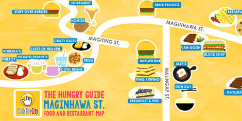 The Hungry Guide: Maginhawa Street Food and Restaurant Map