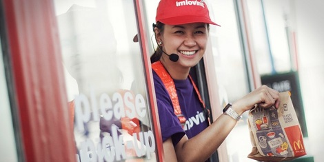 McDonald's surprises lucky motorists with free breakfast and toll fees at the McTollbooth!