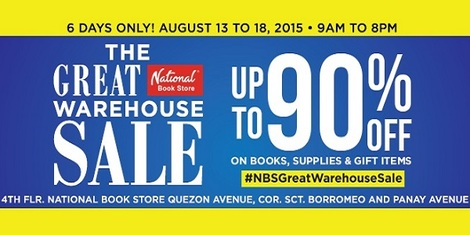 Book Geeks, Get up to 90% off at National Book Store's 'The Great Warehouse Sale' August 13 to 18!