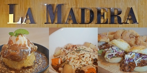 Indulge in your favorite comfort food with a twist at La Madera Gastronomic Pub in Tomas Morato