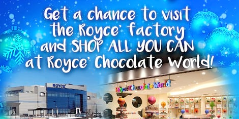 Royce' Chocolates is having a rare golden ticket moment —Their biggest Christmas raffle yet!