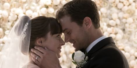 Monique Lhuillier Designs Anastasia Steele's Wedding Gown in Fifty Shades Freed