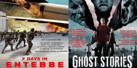 New Movies This Week: 7 Days in Entebbe, Ghost Stories and more!