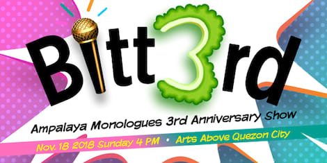 Ampalaya Monologues to Restage Bitt3rd Anniversary Show