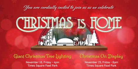 Giant Christmas Tree Lighting