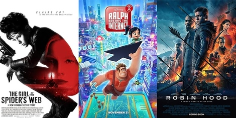 New Movies This Week: The Girl in the Spider's Web, Ralph Breaks The Internet and more!