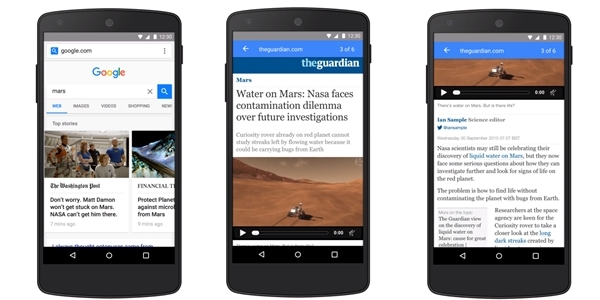 Google aims to instantly load news pages on your phones