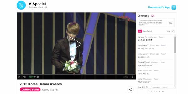 Watch the 2015 Korea Drama Awards Live on V app!