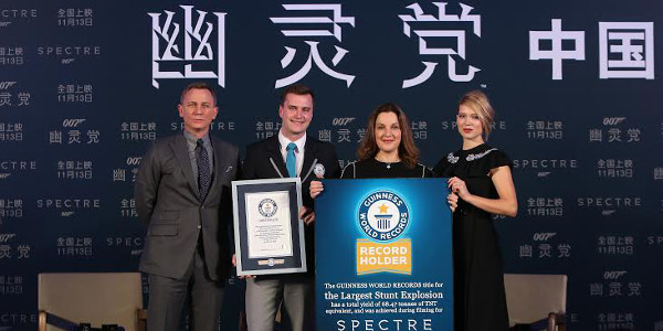 Spectre Awarded Guinness World Record Title for Largest Film Stunt Explosion