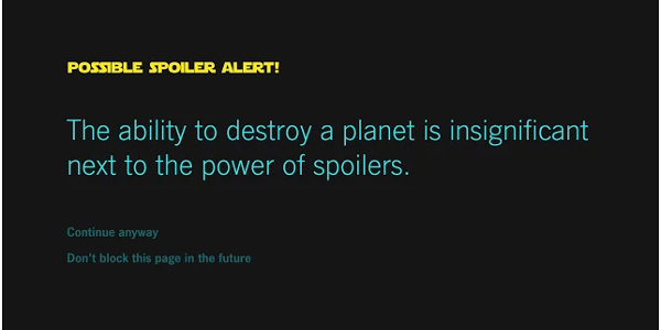 Avoid 'Star Wars: The Force Awakens' Spoilers with just a few clicks