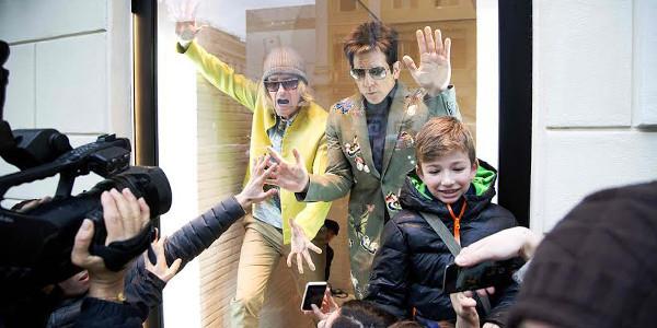 Stiller, Wilson Pose in Valentino Shopping Windows in Rome