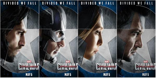 "Cap Enlists Familiar Faces in ""Captain America: Civil War"" Posters"