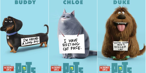 Secret Life Of Pets Characters Take A Bow In Own Posters Clickthecity