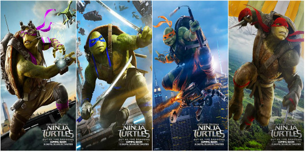 Ninja Turtles Sequel's Payoff Posters Now Out of the Shadows