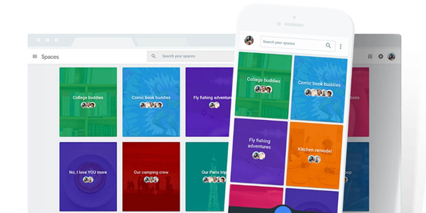 Google launches new group sharing app, Spaces