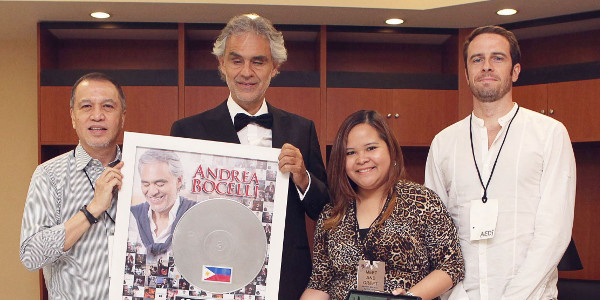 Andrea Bocelli Achieves 10X Platinum in the Philippines
