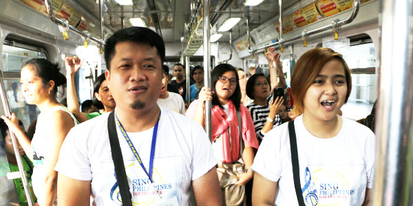 Sing Philippines Youth Choir Serenaded LRT Line 2 Commuters with a Musical Flash Mob