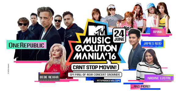 Bebe Rexha and Apink added to sizzle up the performers line-up for MTV Music Evolution Manila 2016